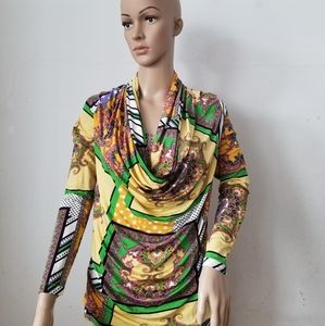 3/$20 Northland Multicolor Bodyfit Blouse, Small?